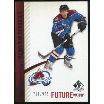2010/11 Upper Deck SP Authentic #216 Jonas Holos RC /999