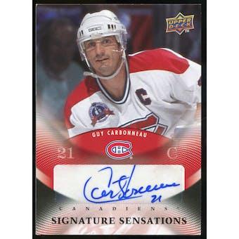2010/11 Upper Deck Signature Sensations #SSGC Guy Carbonneau Autograph