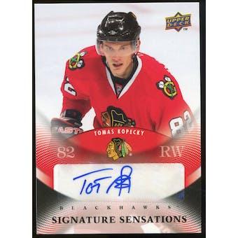 2010/11 Upper Deck Signature Sensations #SSTK Tomas Kopecky Autograph