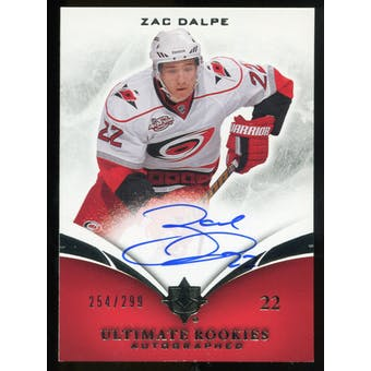 2010/11 Upper Deck Ultimate Collection #108 Zac Dalpe RC Autograph /299