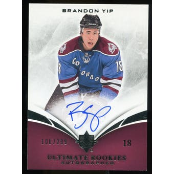 2010/11 Upper Deck Ultimate Collection #111 Brandon Yip RC Autograph /299
