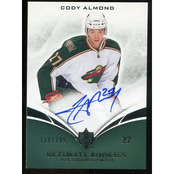 2010/11 Upper Deck Ultimate Collection #120 Cody Almond RC Autograph /299