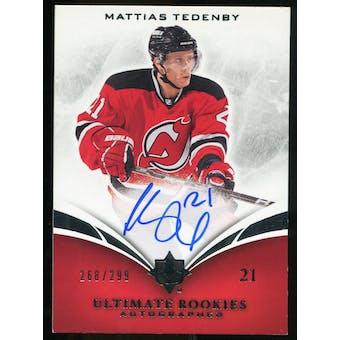 2010/11 Upper Deck Ultimate Collection #133 Mattias Tedenby RC Autograph /299