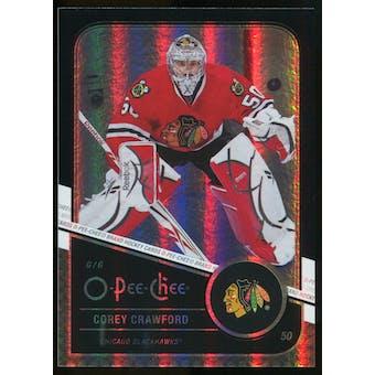 2011/12 Upper Deck O-Pee-Chee Black Rainbow #403 Corey Crawford /100