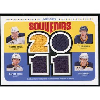 2011/12 Upper Deck O-Pee-Chee Souvenirs #BUF Thomas Vanek/Tyler Myers/Nathan Gerbe/Tyler Ennis E