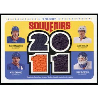 2011/12 Upper Deck O-Pee-Chee Souvenirs #NYI Josh Bailey/Matt Moulson/Kyle Okposo/Rick DiPietro E
