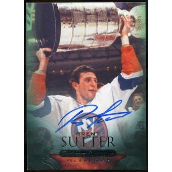 2011/12 Upper Deck Parkhurst Champions Autographs #74 Brent Sutter E Autograph