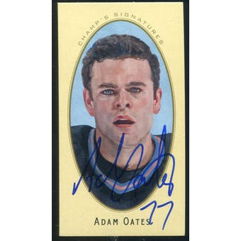 2011/12 Upper Deck Parkhurst Champions Champ's Mini Signatures #4 Adam Oates Autograph