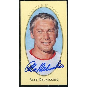 2011/12 Upper Deck Parkhurst Champions Champ's Mini Signatures #5 Alex Delvecchio Autograph
