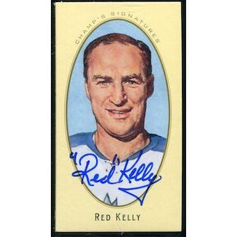 2011/12 Upper Deck Parkhurst Champions Champ's Mini Signatures #21 Red Kelly Autograph