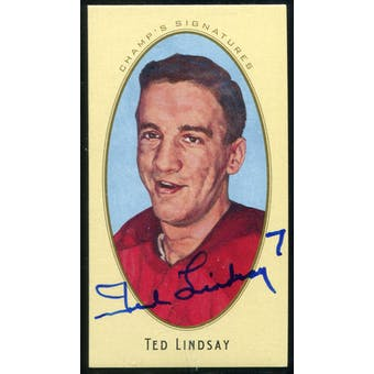2011/12 Upper Deck Parkhurst Champions Champ's Mini Signatures #24 Ted Lindsay Autograph