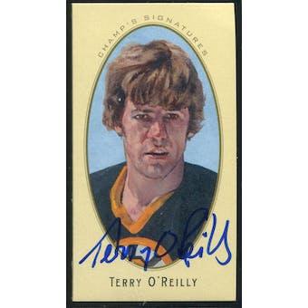 2011/12 Upper Deck Parkhurst Champions Champ's Mini Signatures #25 Terry O'Reilly Autograph