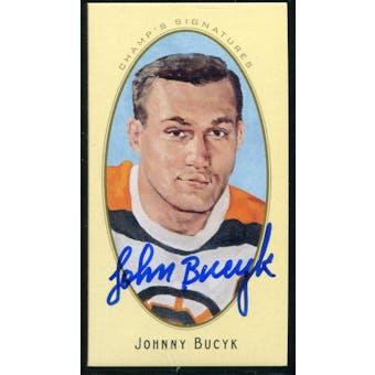 2011/12 Upper Deck Parkhurst Champions Champ's Mini Signatures #27 Johnny Bucyk Autograph