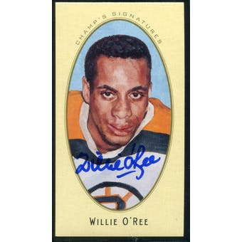 2011/12 Upper Deck Parkhurst Champions Champ's Mini Signatures #37 Willie O'Ree Autograph
