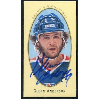 2011/12 Upper Deck Parkhurst Champions Champ's Mini Signatures #40 Glenn Anderson Autograph