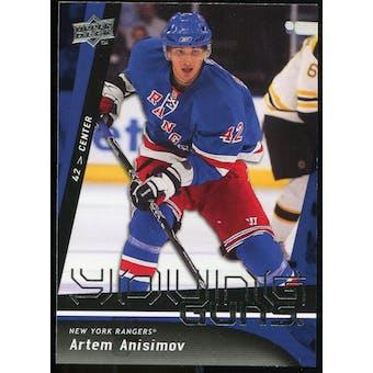 2009/10 Upper Deck #221 Artem Anisimov YG RC