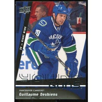 2009/10 Upper Deck #496 Guillaume Desbiens YG RC