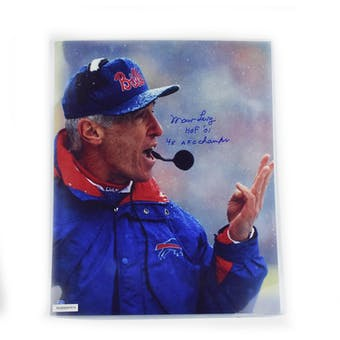Marv Levy Autographed Buffalo Bills 16x20 Photo with inscription