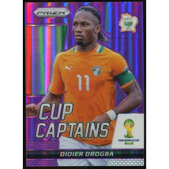 2014 Panini Prizm World Cup Cup Captains Prizms Purple #7 Didier Drogba /99