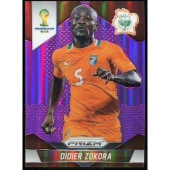 2014 Panini Prizm World Cup Prizms Purple #58 Didier Zokora /99