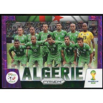 2014 Panini Prizm World Cup Team Photos Prizms Purple #1 Algeria /99