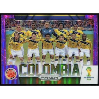 2014 Panini Prizm World Cup Team Photos Prizms Purple #9 Colombia /99