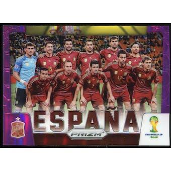 2014 Panini Prizm World Cup Team Photos Prizms Purple #29 Espana /99