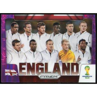 2014 Panini Prizm World Cup Team Photos Prizms Purple #13 England /99