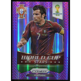 2014 Panini Prizm World Cup World Cup Stars Prizms Purple #49 Luis Figo /99