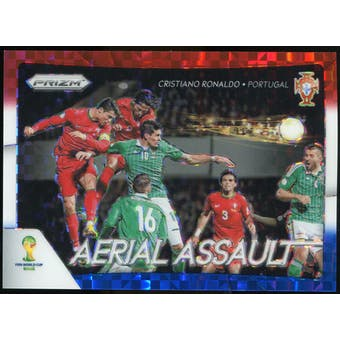 2014 Panini Prizm World Cup Aerial Assault Prizms Red White and Blue #1 Cristiano Ronaldo