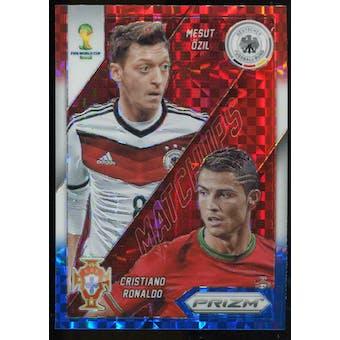 2014 Panini Prizm World Cup World Cup Matchups Prizms Red White and Blue #15 Mesut Ozil Cristiano Ronaldo