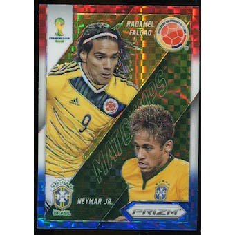 2014 Panini Prizm World Cup World Cup Matchups Prizms Red White and Blue #20 Radamel Falcao Neymar