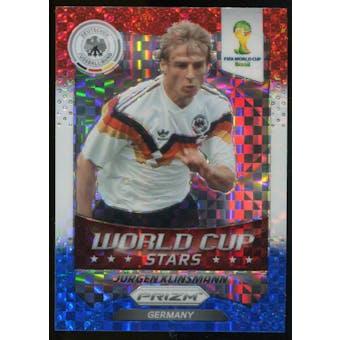 2014 Panini Prizm World Cup World Cup Stars Prizms Red White and Blue #46 Jurgen Klinsmann