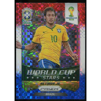 2014 Panini Prizm World Cup World Cup Stars Prizms Red White and Blue #7 Neymar