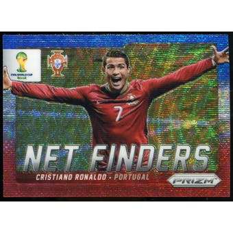 2014 Panini Prizm World Cup Net Finders Prizms Blue and Red Wave #20 Cristiano Ronaldo