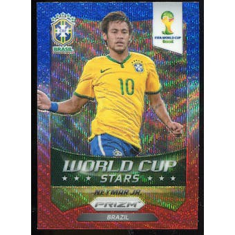 2014 Panini Prizm World Cup World Cup Stars Prizms Blue and Red Wave #7 Neymar
