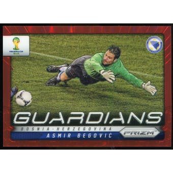 2014 Panini Prizm World Cup Guardians Prizms Red #4 Asmir Begovic /149