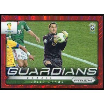 2014 Panini Prizm World Cup Guardians Prizms Red #5 Julio Cesar /149