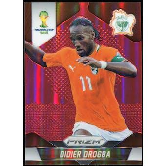 2014 Panini Prizm World Cup Prizms Red #60 Didier Drogba /149