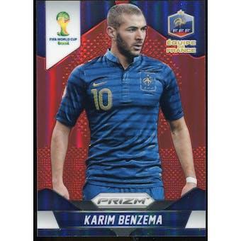 2014 Panini Prizm World Cup Prizms Red #82 Karim Benzema /149