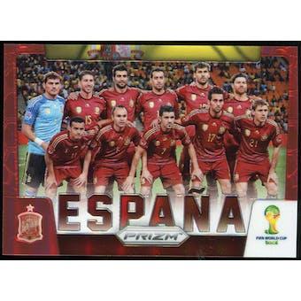2014 Panini Prizm World Cup Team Photos Prizms Red #29 Espana /149