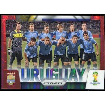 2014 Panini Prizm World Cup Team Photos Prizms Red #31 Uruguay /149