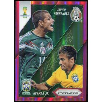 2014 Panini Prizm World Cup World Cup Matchups Prizms Red #2 Javier Hernandez/Neymar /149