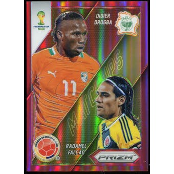 2014 Panini Prizm World Cup World Cup Matchups Prizms Red #5 Didier Drogba/Radamel Falcao /149