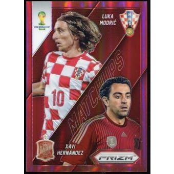 2014 Panini Prizm World Cup World Cup Matchups Prizms Red #25 Luka Modric/Xavi Hernandez /149