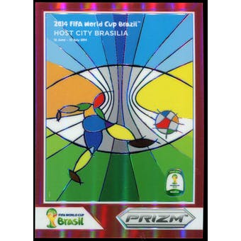 2014 Panini Prizm World Cup World Cup Posters Prizms Red #2 Brasilia /149