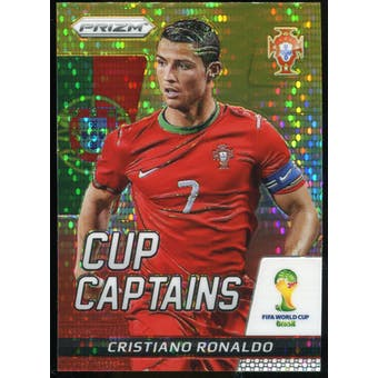 2014 Panini Prizm World Cup Cup Captains Prizms Yellow and Red Pulsar #5 Cristiano Ronaldo