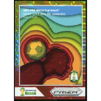 2014 Panini Prizm World Cup World Cup Posters Prizms Yellow and Red Pulsar #10 Rio de Janeiro