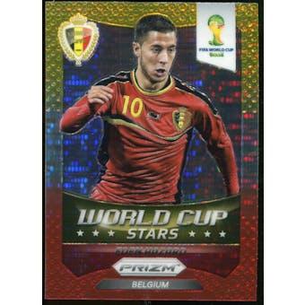 2014 Panini Prizm World Cup World Cup Stars Prizms Yellow Red Pulsar #3 Eden Hazard