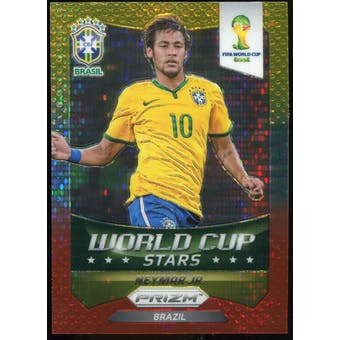 2014 Panini Prizm World Cup World Cup Stars Prizms Yellow Red Pulsar #7 Neymar
